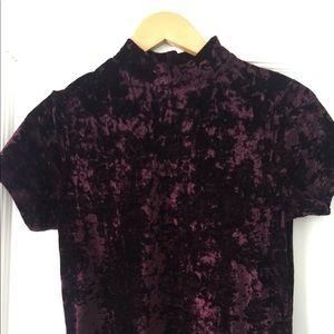 Velvet purple top from Forever21.